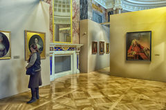 Exhibition of painting Peter the Great. Time and Places Royalty Free Stock Photography