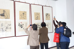 exhibition of paintings Royalty Free Stock Photo