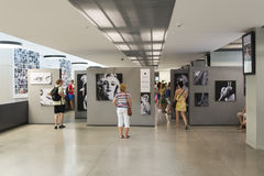 An exhibition of photographs Marilyn Monroe Royalty Free Stock Photo