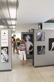 An exhibition of photographs Marilyn Monroe Royalty Free Stock Photography