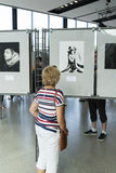 An exhibition of photographs Marilyn Monroe Royalty Free Stock Images