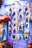 Exhibition of pottery outside the souvenir shop, Morocco Royalty Free Stock Images