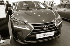 Exhibition presentation of a new car model Lexus Royalty Free Stock Images