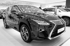 Exhibition presentation of a new car model Lexus Royalty Free Stock Photos