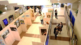 Exhibition of the project  stock footage