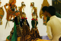 Exhibition of puppets Royalty Free Stock Photo