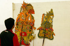 Exhibition of puppets Royalty Free Stock Photography