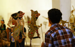 Exhibition of puppets Royalty Free Stock Image