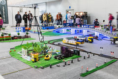 Exhibition of radio controlled models, boats, locomotives, cars, Royalty Free Stock Photography