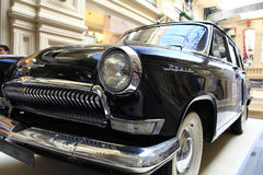 Exhibition of rare vintage cars in GUM on SEPTEMBER  4, 2014, in Moscow, Russia Royalty Free Stock Photography