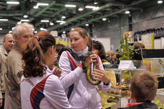 Exhibition of reptiles Royalty Free Stock Photos