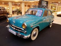 Exhibition of retro cars in the Metropolis mall Royalty Free Stock Photography