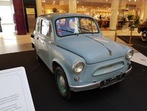 Exhibition of retro cars in the Metropolis mall Stock Photo