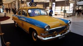 Exhibition of retro cars in the Metropolis mall Stock Photos