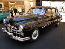 Exhibition of retro cars in the Metropolis mall Stock Photography