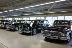 Exhibition of retro-cars in Mezhyhirya Royalty Free Stock Images