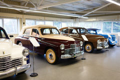 Exhibition of retro-cars in Mezhyhirya Stock Photos