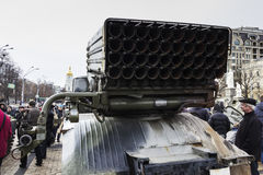 Exhibition of Russian weapons in Kiev Stock Photography