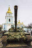 Exhibition of Russian weapons in Kiev Royalty Free Stock Photo