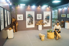 Exhibition and sale of Chinese painting and calligraphy works Stock Image