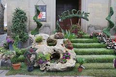 Exhibition San Pellegrino in Fiore in Viterbo - Italy. VITERBO, ITALY, MAY 4, 2014: Exhibition San Pellegrino in Fiore in Viterbo. The event in San Pellegrino in Stock Photos