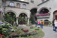 Exhibition San Pellegrino in Fiore in Viterbo - Italy Stock Images