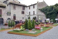 Exhibition San Pellegrino in Fiore in Viterbo - Italy Stock Image