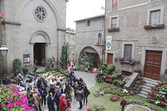 Exhibition San Pellegrino in Fiore in Viterbo - Italy Royalty Free Stock Photos