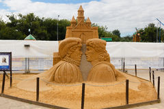 The exhibition of sand sculptures. Royalty Free Stock Images