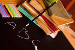 Exhibition of school. Back to school stock image