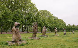 Exhibition of sculptures in the park of Bercy. Paris,France- May 06,2017: Exhibition of sculptures in the park of Bercy Royalty Free Stock Photos