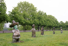 Exhibition of sculptures in the park of Bercy. Paris,France- May 06,2017: Exhibition of sculptures in the park of Bercy Stock Photo