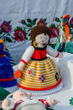 Exhibition Shrovetide doll Royalty Free Stock Image