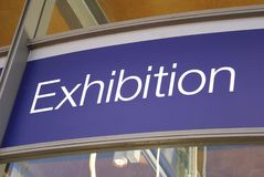 Exhibition sign Stock Photography