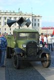 Soviet agitation truck of the Second World War Royalty Free Stock Photography