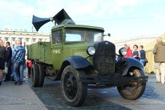 Soviet agitation truck of the Second World War Royalty Free Stock Photo
