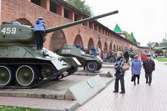 Exhibition of Soviet military vehicles Stock Image