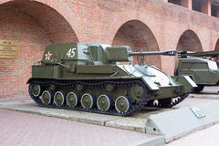 Exhibition of Soviet military vehicles Royalty Free Stock Photos
