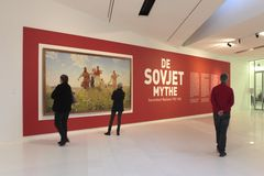 Exhibition The Soviet Myth in the Drents Museum in Assen Stock Photos