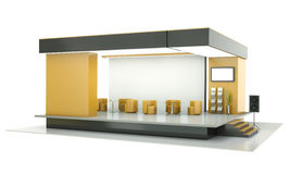 Exhibition stand stock illustration