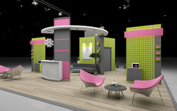 Exhibition stand Royalty Free Stock Images