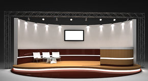 Exhibition stand 3D rendered illustration Royalty Free Stock Images