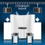 Exhibition stand blank Royalty Free Stock Image