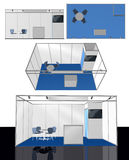 Exhibition stand blank 3D template Stock Photo