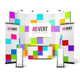Exhibition Stand Bright Design Royalty Free Stock Photography