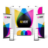 Exhibition Stand Color Design Royalty Free Stock Photography