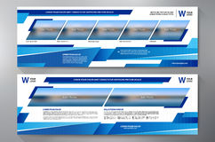Exhibition Stand Displays Template for Print. Vector and Illustration Stock Photos