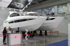 Exhibition stand Galeon in the exhibition Crocus Expo in Moscow. Stock Photography