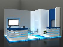 Exhibition Stand Interior / Exterior Sample Stock Photos