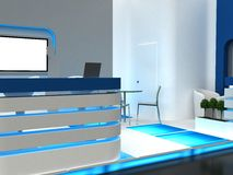 Exhibition Stand Interior / Exterior Sample Royalty Free Stock Photography